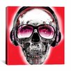 iCanvas Skull Sun Glasses by Luz Graphics Graphic Art on Canvas in Red