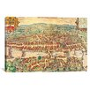<strong>iCanvasArt</strong> Antique Maps Zurych Turicum (1581) by Georg Braun Graphic Art on Canvas in Multi-color