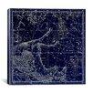 iCanvas Celestial Atlas - Plate 12 (Pegasus, Equuleus) by Alexander Jamieson Graphic Art on Canvas in Blue