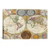 iCanvas Antique General Map of the World (1794) by Samuel Dunn Graphic Art on Canvas in Color