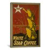 <strong>iCanvasArt</strong> Vintage Posters 'White Star Coffee Brand Label' Vintage Advertisement on Canvas
