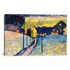iCanvasArt 'Winter Landscape' by Wassily Kandinsky Painting Print on Canvas