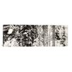 iCanvasArt Panoramic Snow Covered Evergreen Trees at Stevens Pass, Washington State Photographic Print on Canvas in Black/White