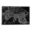 iCanvas Antique Map of Asia (1687) by Giovanni Giacomo De Rossi Graphic Art on Canvas in Black
