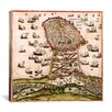 iCanvasArt Maps and Charts Prints Theatrum Orbis Terrarum (1420) Graphic Art on Canvas in Multi-color