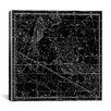 iCanvasArt Celestial Atlas - Plate 22 (Pisces) by Alexander Jamieson Graphic Art on Canvas in Black