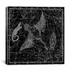 iCanvasArt Celestial Atlas - Plate 11 (Cygnus, Lacerta, Lyra) by Alexander Jamieson Graphic Art on Canvas in Black