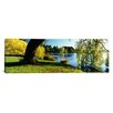 iCanvas Panoramic Willow Tree by a Lake, Green Lake, Seattle, Washington State Photographic Print on Canvas