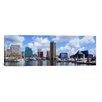 iCanvasArt Baltimore Panoramic Skyline Cityscape Photographic Print on Canvas in Color