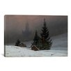 iCanvas 'Winter Landscape with a Church' by Caspar David Friedrich Painting Print on Canvas