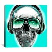 iCanvas Skull Sun Glasses by Luz Graphics Graphic Art on Canvas in Vert