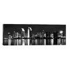 iCanvasArt Panoramic San Diego Skyline Cityscape Photographic Print on Canvas in Black/White