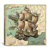 iCanvas Antique Map of France (1796) Graphic Art on Canvas in Color