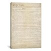 iCanvas Political 'The Constitution Document' Textual Art on Canvas