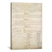 <strong>iCanvasArt</strong> Political 'The Constitution Document Signatures' Textual Art on Canvas