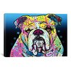 <strong>iCanvasArt</strong> 'The Bulldog' by Dean Russo Graphic Art on Canvas