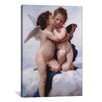 iCanvasArt 'The First Kiss' by William-Adolphe Bouguereau Painting Print on Canvas