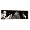 <strong>iCanvasArt</strong> Christmas Tree Lit up at Night, Rockefeller Center, Manhattan, New York City Photographic Print on Canvas in Black/White
