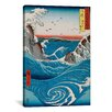 iCanvas 'The Crashing Waves' by Katsushika Hokusai Painting Print on Canvas