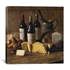 "<strong>iCanvasArt</strong> ""Wine and Cheese"" Canvas Wall Art by Michael Harrison"