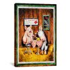 iCanvasArt Decorative Art 'Wine, Dine and Swine' by Charlsie Kelly Photographic Print on Canvas