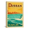 <strong>iCanvasArt</strong> 'The Golden Mile - Durban, South Africa' by Anderson Design Group Vintage Advertisement on Canvas