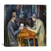 "iCanvasArt ""The Card Players, 1893-96"" Canvas Wall Art by Paul Cezanne"