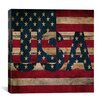 iCanvas American Flag, Stars Wood Boards Graphic Art on Canvas in Color