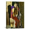 <strong>iCanvasArt</strong> Fine Art 'The Cellist' by Max Weber Painting Print on Canvas