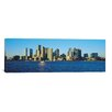 iCanvasArt Boston Panoramic Skyline Cityscape Photographic Print on Canvas in Color