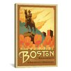 <strong>iCanvasArt</strong> 'The Birthplace of Democracy - Boston, Massachusetts' by Anderson Design Group Vintage Advertisement on Canvas