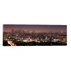 iCanvas Panoramic Los Angeles Skyline Cityscape Photographic Print on Canvas in Night View