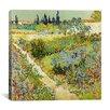 "iCanvas ""The Garden at Arles"" Canvas Wall Art by Vincent Van Gogh"