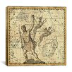 iCanvas Celestial Atlas - Plate 7 (Canes Venatici) by Alexander Jamieson Graphic Art on Canvas in Beige