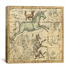 iCanvas Celestial Atlas - Plate 25 (Canis Major) by Alexander Jamieson Graphic Art on Canvas in Beige