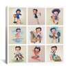 <strong>iCanvasArt</strong> The Many Faces of Betty Boop Graphic Art on Canvas in Multi-color