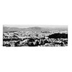 iCanvasArt San Francisco Panoramic Skyline Cityscape Photographic Print on Canvas in Black/White