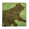 "iCanvas ""Winter Lodge (Bear)"" Canvas Wall Art by Color Bakery"