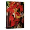 iCanvasArt 'The Fox' by Franz Marc Painting Print on Canvas