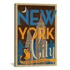 iCanvasArt The City that Never Sleeps - New York City, New York by Anderson Design Group Vintage Advertisement on Canvas
