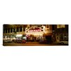 iCanvas Panoramic Theater Lit up at Night, Biograph Theater, Lincoln Avenue, Chicago, Illinois Photographic Print on Canvas