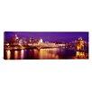 iCanvas Panoramic 'Ohio, Cincinnati, Night' Photographic Print on Canvas