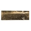 <strong>iCanvasArt</strong> Panoramic San Francisco Skyline Cityscape (Sepia) Photographic Print on Canvas