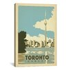 iCanvas 'Toronto, Canada' by Anderson Design Group Vintage Advertisement on Canvas