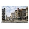"iCanvas ""San Francisco: Latta's Fountain, Market and Geary STS"" Canvas Wall Art by Stanton Manolakas"