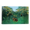 <strong>iCanvasArt</strong> 'The Tropics' by Henri Rousseau Painting Print on Canvas