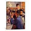<strong>iCanvasArt</strong> 'The Weitress' by Edouard Manet Painting Print on Canvas