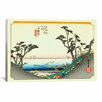 "iCanvas ""Shirasuka"" Canvas Wall Art by Utagawa Hiroshige l"