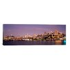 iCanvas Panoramic Sea with a City in The Background, Coit Tower, Ghirardelli Square, San Francisco, California Photographic Print on Canvas