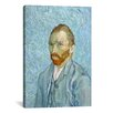 iCanvasArt 'Van Gogh Self Portrait St. Remy 1889' by Vincent Van Gogh Painting Print on Canvas